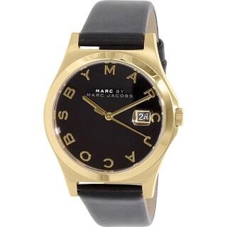 Marc By Marc Jacobs Women's Slim MBM1357 Black Leather Quartz Watch