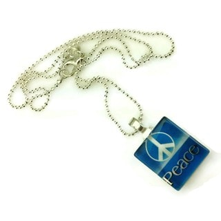 Mama Designs Retro Style Peace Sign Symbol Charm Handmade Necklace