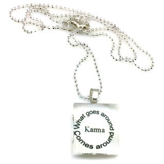 Mama Designs Glass Tile Sister Family Necklace