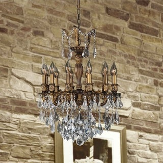 Versailles Collection 12-light Antique Bronze Finish and Clear Crystal Chandelier