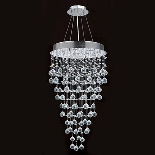 Icicle Collection 9-light Chrome Finish and Clear Crystal Chandelier