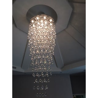 Icicle Collection 12-light Chrome Finish and Clear Crystal Chandelier