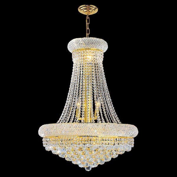 French Empire Light Crystal Chandelier Gold X