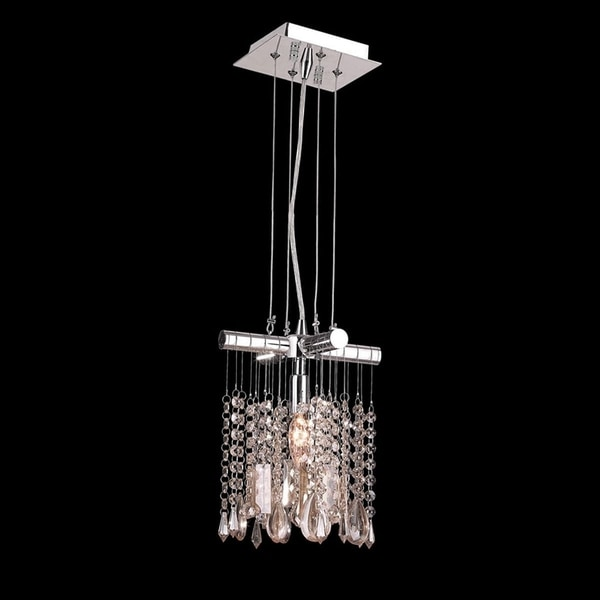 Shop Nadia Collection 1 Light Chrome Finish And Clear Crystal Mini