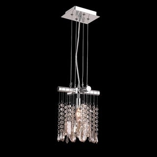 Nadia Collection 1-light Chrome Finish and Clear Crystal Mini Pendant Light