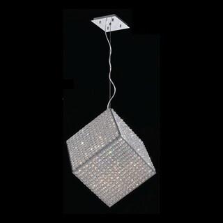 Modern Geometric Cube Collection 13-light Halogen Chrome Finish Crystal Pendant Light