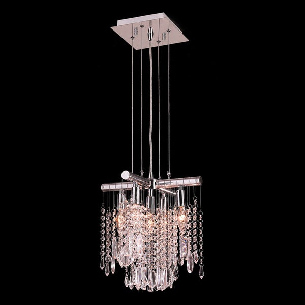 Sparkling 5 Light Chrome Finish And Clear Crystal Mini Pendant On Free Shipping Today 10167047