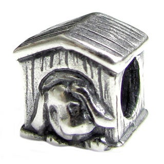 Queenberry Sterling Silver Dog House European Bead Charm
