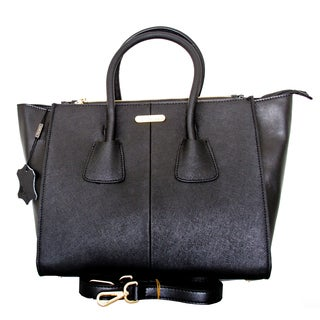 Leatherbay Italian Leather Trapani Small Tote Handbag
