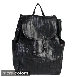 Mllecoco Leather Pleated Drawstring Backpack
