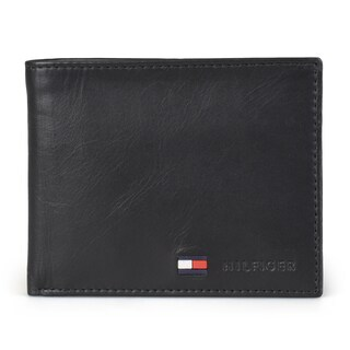 Tommy Hilfiger Men's Genuine Leather Bifold Wallet