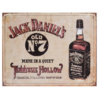 Vintage Metal Art 'Jack Daniels Tennessee Hollow' Decorative Tin Sign