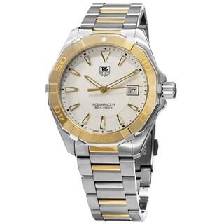 Tag Heuer Men's Aquaracer' Silver Dial Two Tone Swiss Quartz Watch