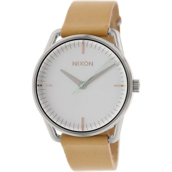 Nixon Women's Mellor Brown Leather Quartz Watch