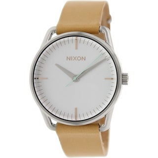Nixon Women's Mellor A1291603 Brown Leather Quartz Watch