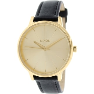 Nixon Women's Kensington A108501 Goldtone Leather Quartz Watch