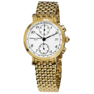Frederique Constant Women's 'Classics' White Dial Yellow Goldtone Stainless Steel Watch