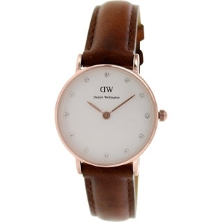 Daniel Wellington Women's Classy St. Andrews 0900DW White Leather Quartz Watch