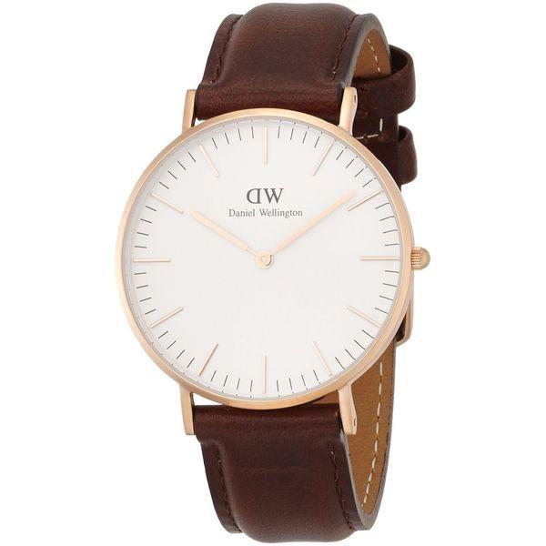 Daniel Wellington Women's Bristol 0511DW White Leather Quartz Watch