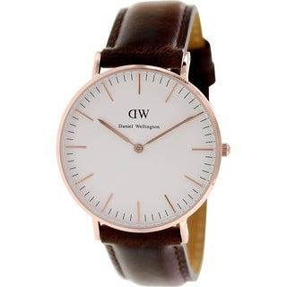 Daniel Wellington Women's Bristol 0511DW White Leather Quartz Watch