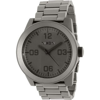 Nixon Men's Corporal Ss A3461062 Grey Stainless Steel Quartz Watch