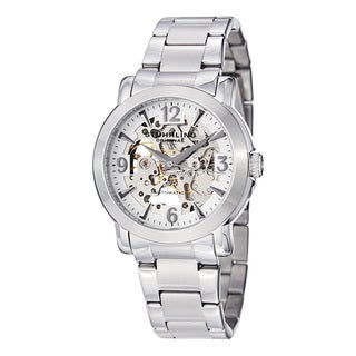 Stuhrling Original Men's Canterbury Automatic Watch with Stainless Steel Bracelet - silver
