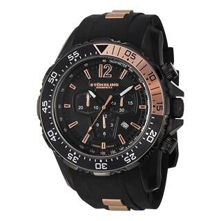 Stuhrling Original Men's Enterprise II Swiss Quartz Chronograph Stainless Steel Bracelet Watch