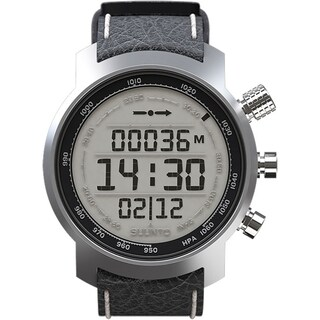 Suunto Men's Elementum Terra Black Leather SS014523000 Digital Leather Quartz Watch
