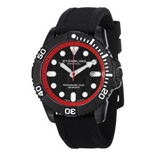 Stuhrling Original Men's Atlantis Sport Swiss Quartz Leather Strap Watch