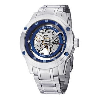 Stuhrling Original Men's Zolara 360 Elite Automatic Stainless Steel Bracelet Watch