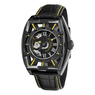 Stuhrling Original Men's Millennia Expo Automatic Leather Strap Watch