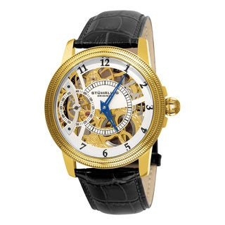 Stuhrling Original Men's Brumalia Mechanical Leather Strap Watch