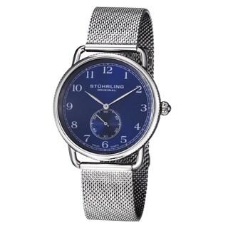 Stuhrling Original Men's Classique 207M Swiss Quartz Rubber Strap Watch