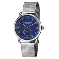 Stuhrling Original Men's Classique 207M Swiss Quartz Rubber Strap Watch - BLue