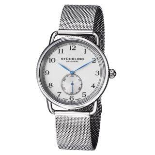 Stuhrling Original Men's Classique 207M Swiss Quartz Stainless Steel Bracelet Watch