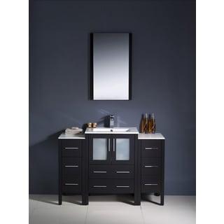 Fresca Torino 48-inch Espresso Modern Bathroom Vanity with 2 Side Cabinets and Undermount Sink