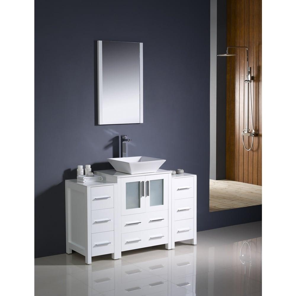 Shop Fresca Torino 48-inch White Modern Bathroom Vanity ...
