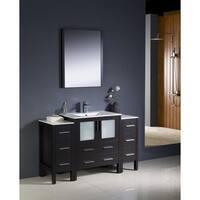 Fresca Torino 54-inch Espresso Modern Bathroom Vanity with 2 Side Cabinets and Undermount Sink