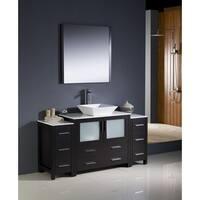 Fresca Torino 60-inch Espresso Modern Bathroom Vanity with 2 Side Cabinets and Vessel Sink