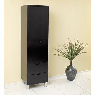 Fresca Espresso Bathroom Linen Side Cabinet with 4 Storage Areas
