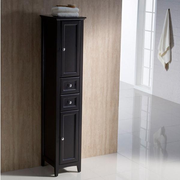 Fresca Oxford Espresso Tall Bathroom Linen Cabinet
