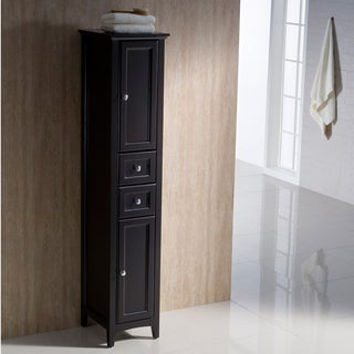 Fresca Oxford Espresso Tall Bathroom Linen Cabinet