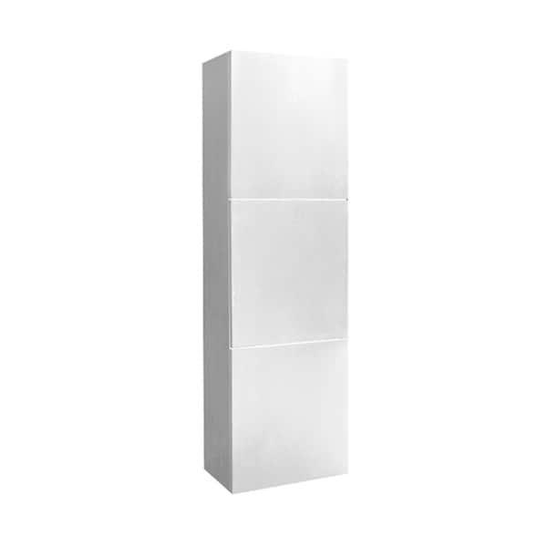 Fresca White Bathroom Linen Side
