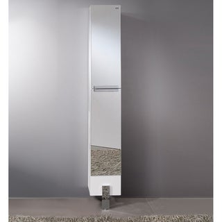 Fresca Adour Mirrored Bathroom Linen Side Cabinet