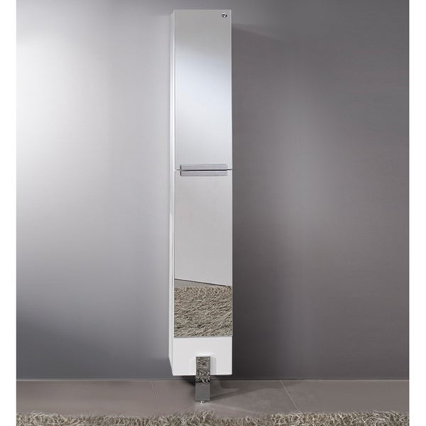 Fresca Adour Mirrored Bathroom Linen Side Cabinet Free Shipping Today Overstock 17295514