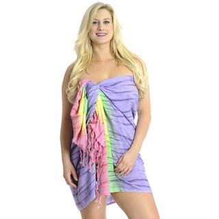 La Leela Soft Gentle Rayon Tie Dye Beach Bikini Pareo Sarong 72X46Inch Pink