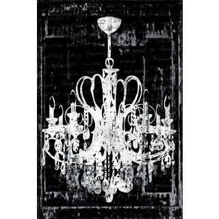 Portfolio Canvas Decor IHD Studio 'Chandelier 3 in Black' Framed Canvas Wall Art