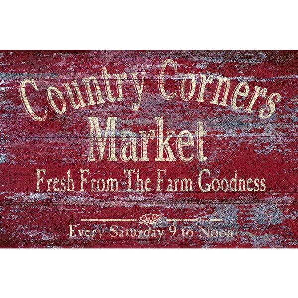 Portfolio Canvas Decor IHD Studio 'Vintage Signs - Country Corners 2' Framed Canvas Wall Art