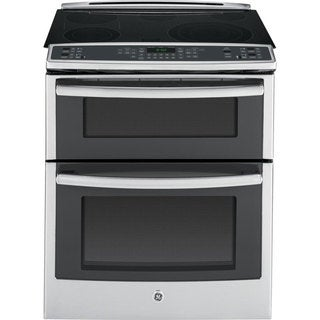 "GE 30"" Slide-in Smoothtop Electric Range Stainless Steel"