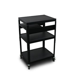 Marvel Vizion Adjustable Height Cart with Side Pullout Shelf
